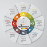 Infographic design template 8 options pie chart and business concept. Royalty Free Stock Photography