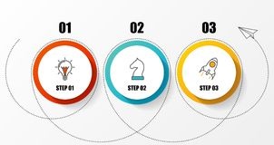 Infographic design template. Organization chart with 3 steps. Vector illustration Royalty Free Stock Image