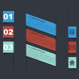 Infographic design template with paper tags Royalty Free Stock Images
