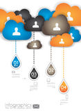 Infographic design template with cloud concept Royalty Free Stock Image