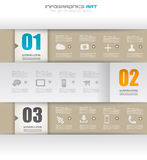 Infographic design template with paper tags. Stock Images