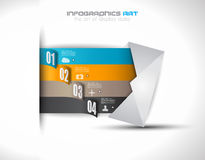 Infographic design template with paper tags Stock Photography