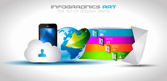 Infographic design template with paper tags. Royalty Free Stock Photo