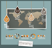 Infographic design template with paper tags. Stock Photos