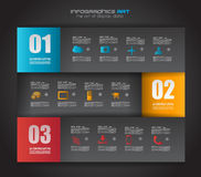 Infographic design template with paper tags. Royalty Free Stock Photos