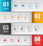 Infographic design template with paper tags. Royalty Free Stock Image