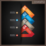 Infographic design template with paper tags Stock Image
