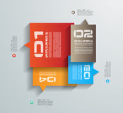 Infographic design template with paper tags Royalty Free Stock Photography
