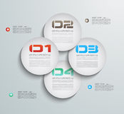 Infographic design template with paper tags vector illustration