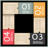 Infographic design template with paper tags. Idea to display information, ranking and statistics with orginal and modern style Royalty Free Stock Image