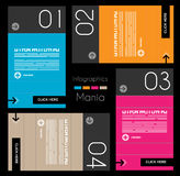 Infographic design template with paper tags. Royalty Free Stock Images