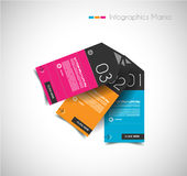 Infographic design template with paper tags. Stock Image