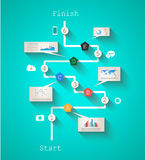 Infographic design template with paper tags Stock Photos