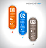 Infographic design template with paper tags. Royalty Free Stock Photography