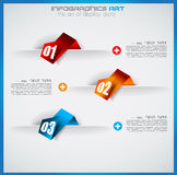 Infographic design template with paper tags Royalty Free Stock Image