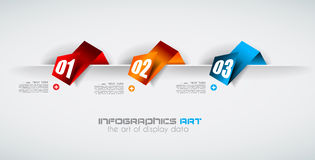 Infographic design template with paper tags Royalty Free Stock Photos