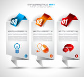 Infographic design template with paper tags Stock Photo