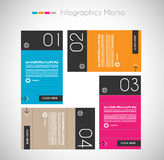 Infographic design template with paper tags. Stock Photography