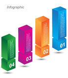 Infographic design templates in the form of a 3D box. Info-graphic design templates in the form of a 3D box. Idea to display, ranking and statistics Stock Image