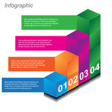 Infographic design templates in the form of a 3D box. Info-graphic design templates in the form of a 3D box. Idea to display, ranking and statistics Royalty Free Stock Photos