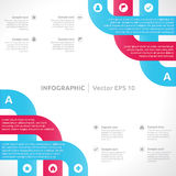 Infographic design template Royalty Free Stock Photo