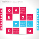 Infographic design template Royalty Free Stock Images
