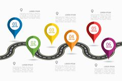 Infographic design template with place for your text. Vector illustration. Royalty Free Stock Photo