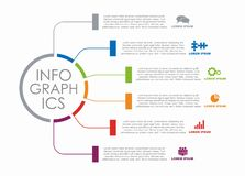 Infographic design template with place for your data. Vector illustration. stock images