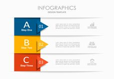 Infographic design template with place for your data. Vector illustration. stock photography