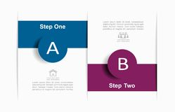Infographic design template with place for your data. Vector illustration. royalty free stock photography