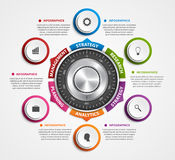 Infographic design template. Protection information. Combination safe lock design concept. Stock Image