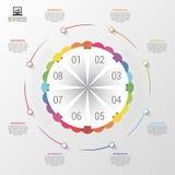 Infographic design template. 8 steps.Modern business concept. Vector illustration Stock Image