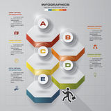 Infographic design template with 5 steps structure up arrow. Stock Photos