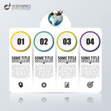 Infographic design template with 4 steps. Vector Royalty Free Stock Photos