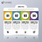 Infographic design template with 4 steps. Vector Stock Image