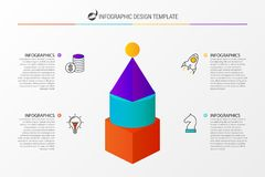 Infographic design template with 4 steps. Vector. Illustration Stock Photos