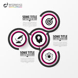 Infographic design template with 3 steps. Vector. Illustration Stock Images