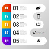 Infographic design template with 5 steps. Vector. Illustration Stock Images