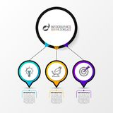 Infographic design template with 3 steps. Vector. Illustration Royalty Free Stock Images