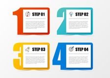 Infographic design template with 4 steps. Vector. Illustration Royalty Free Stock Photography