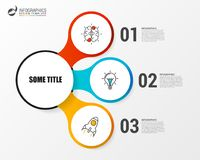 Infographic design template with 3 steps. Vector. Illustration Royalty Free Stock Photos