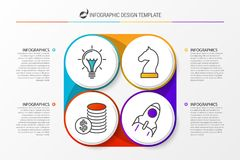 Infographic design template with 4 steps. Vector. Illustration Royalty Free Stock Image