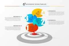 Infographic design template with target. Vector illustration. Infographic design template with target. Can be used for workflow layout, diagram, webdesign royalty free illustration