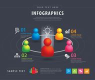 Infographic Design template Team Business Stock Image