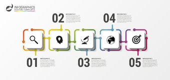 Infographic design template. Timeline Concept with icons vector illustration