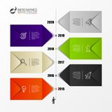 Infographic design template. Timeline concept with 6 steps stock photo