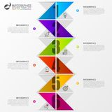 Infographic design template. Timeline concept with 6 steps Royalty Free Stock Photography