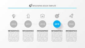 Infographic design template. Timeline concept with 5 steps. Can be used for workflow layout, diagram, banner, webdesign. Vector illustration vector illustration
