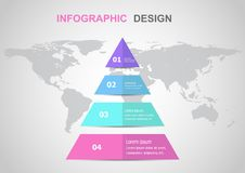 Infographic design template with triangle. Stock vector royalty free illustration