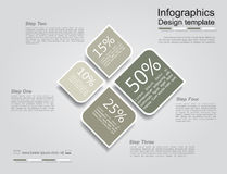 Infographic design template. Vector illustration. Royalty Free Stock Images